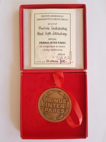 medal primus inter pares Pauliny Gudalewskiej