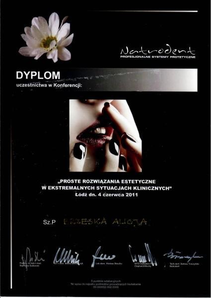 dyplom Alicji Brzeskiej proste rozwiązania kosmetyczne